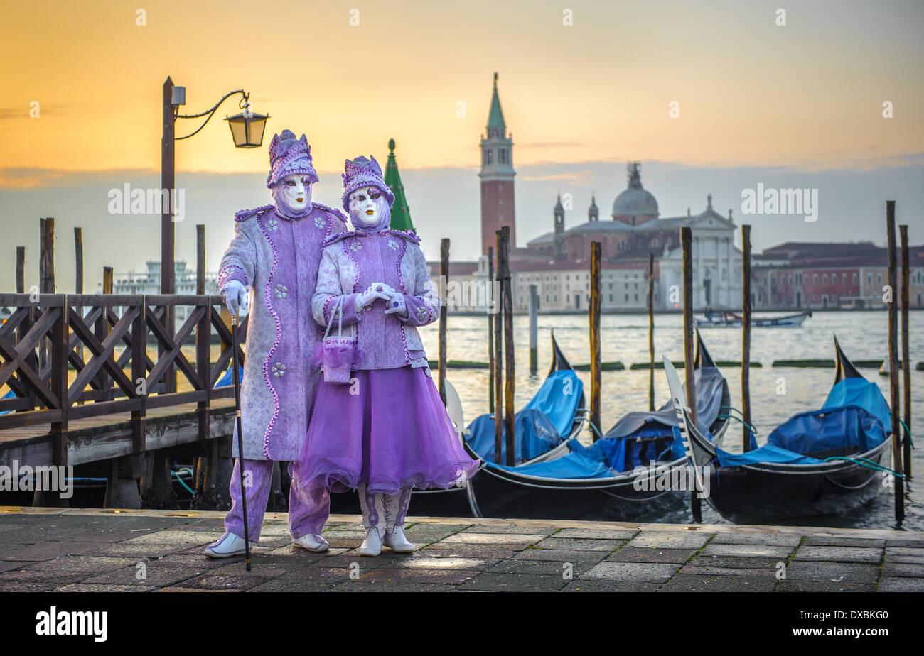 Máscaras de carnaval veneciano Foto de stock
