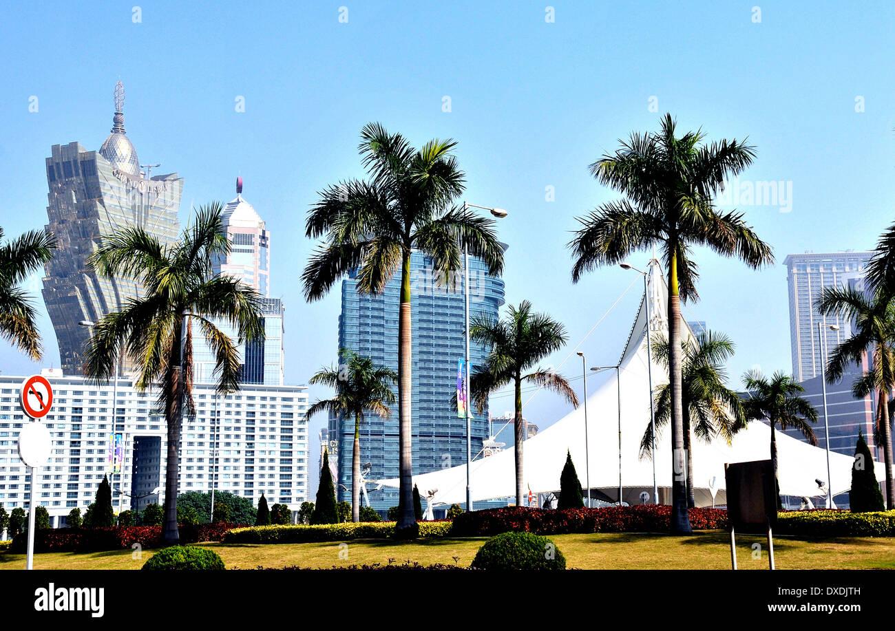 Gran Casino Lisboa Macau China Imagen De Stock