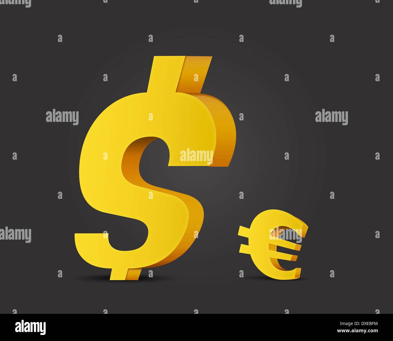 Concepto de moneda, un dólar fuerte. Imagen De Stock