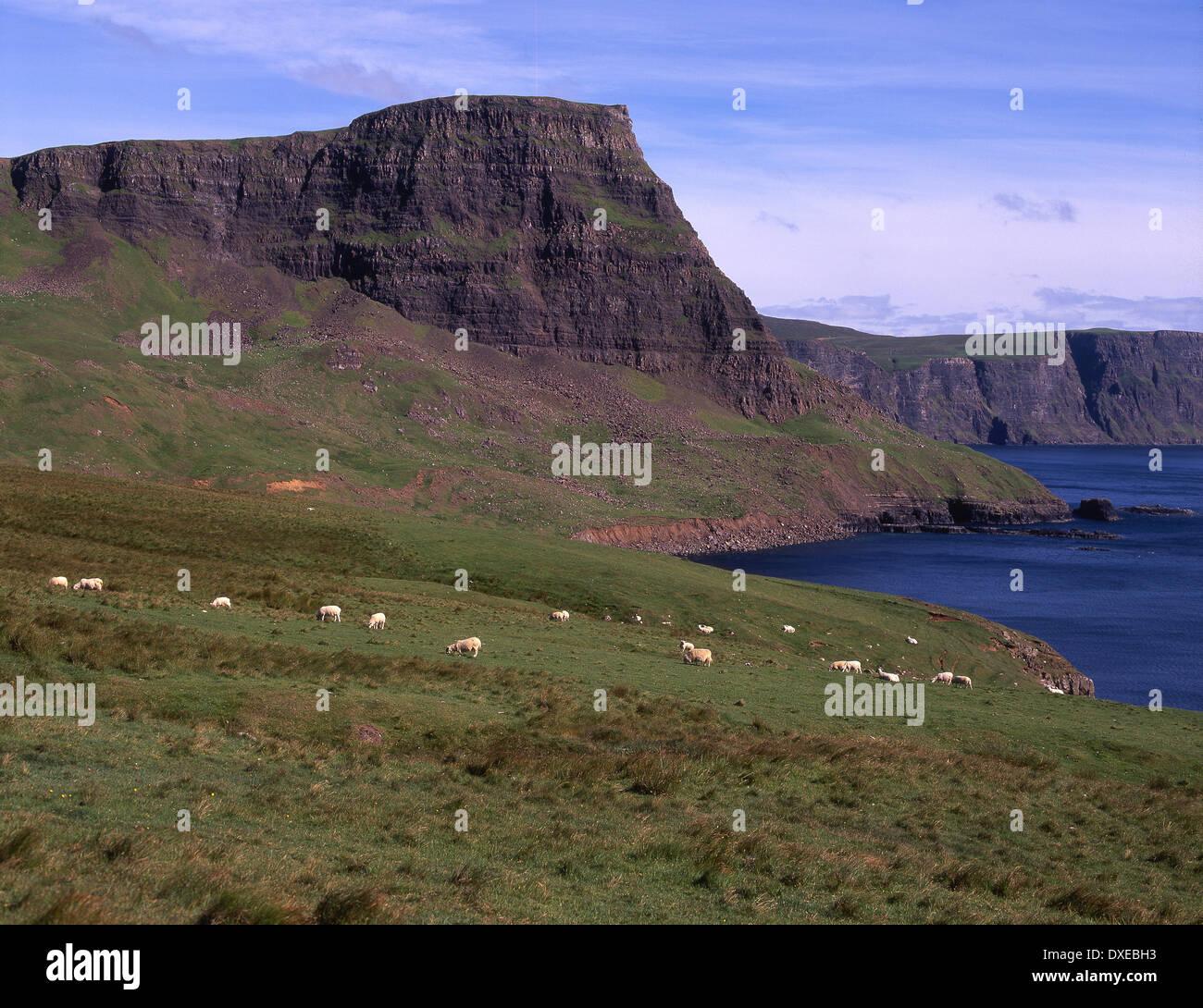 Waterstein head y moonen bay glendale,Skye Foto de stock