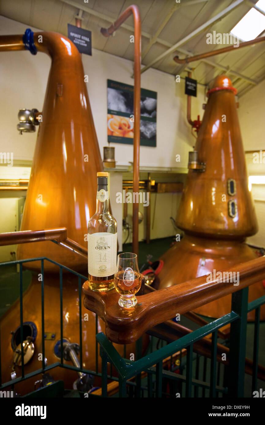 Aún así, la habitación, la Destilería Oban Oban, Argyll Imagen De Stock