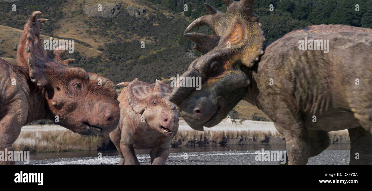 Walking with Dinosaurs 3D Foto de stock