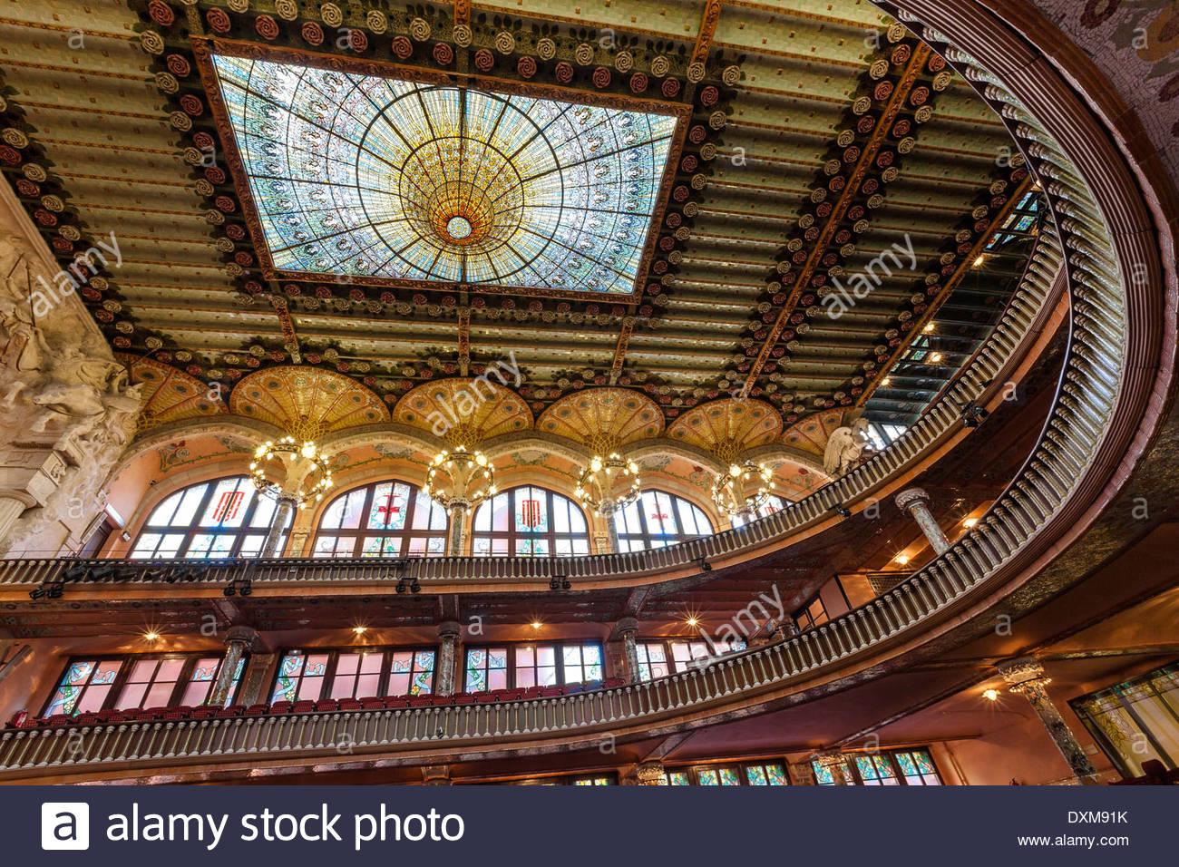 España, Cataluña, Barcelona, Borne, Palau de la música Imagen De Stock