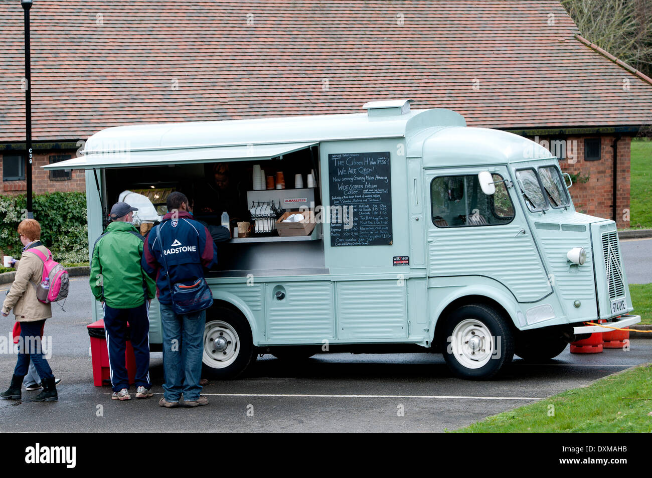 Citroën H Van mobile cafe. Foto de stock