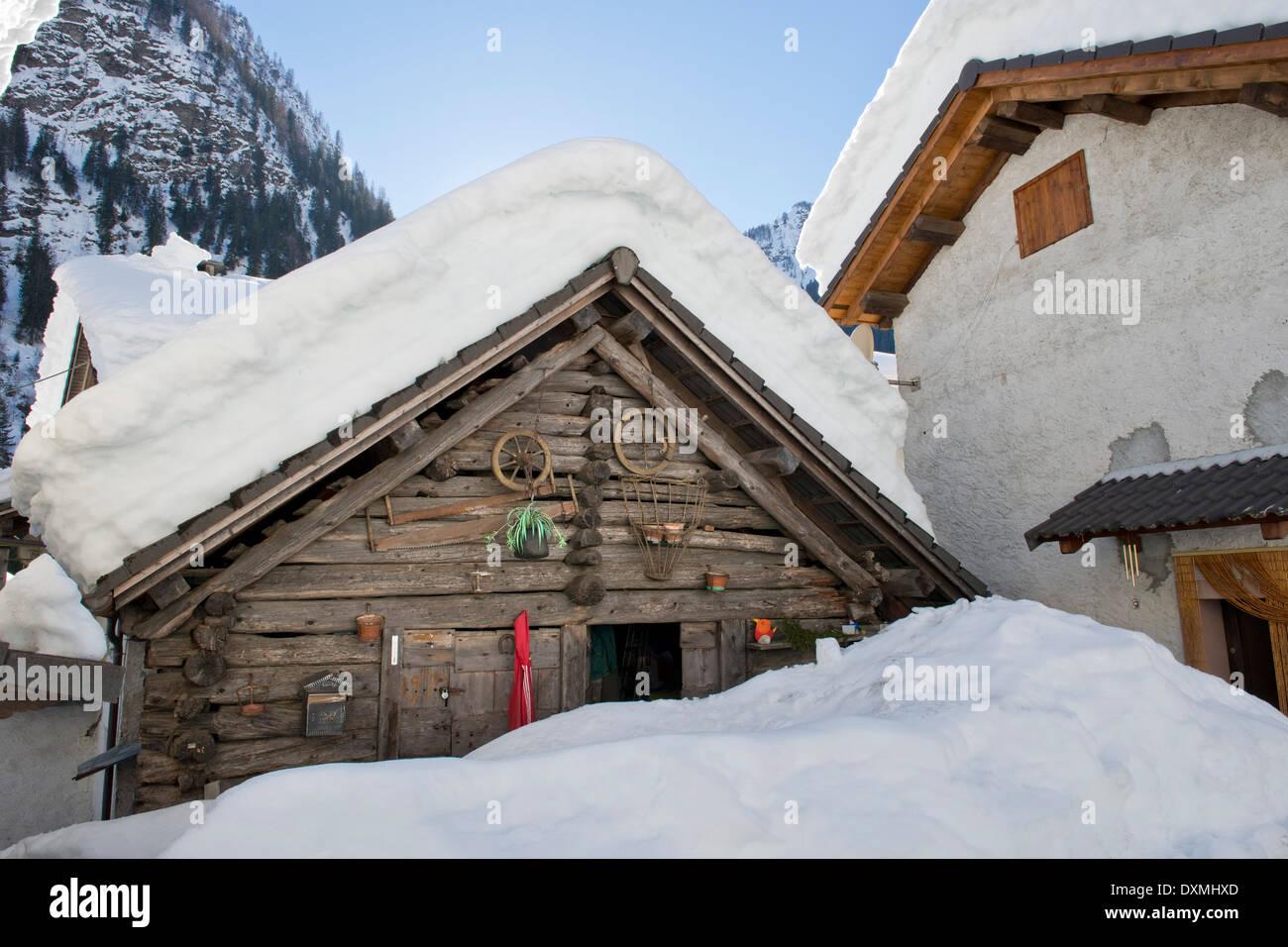 Suiza, Valle, Peccia Lavizzara Foto de stock