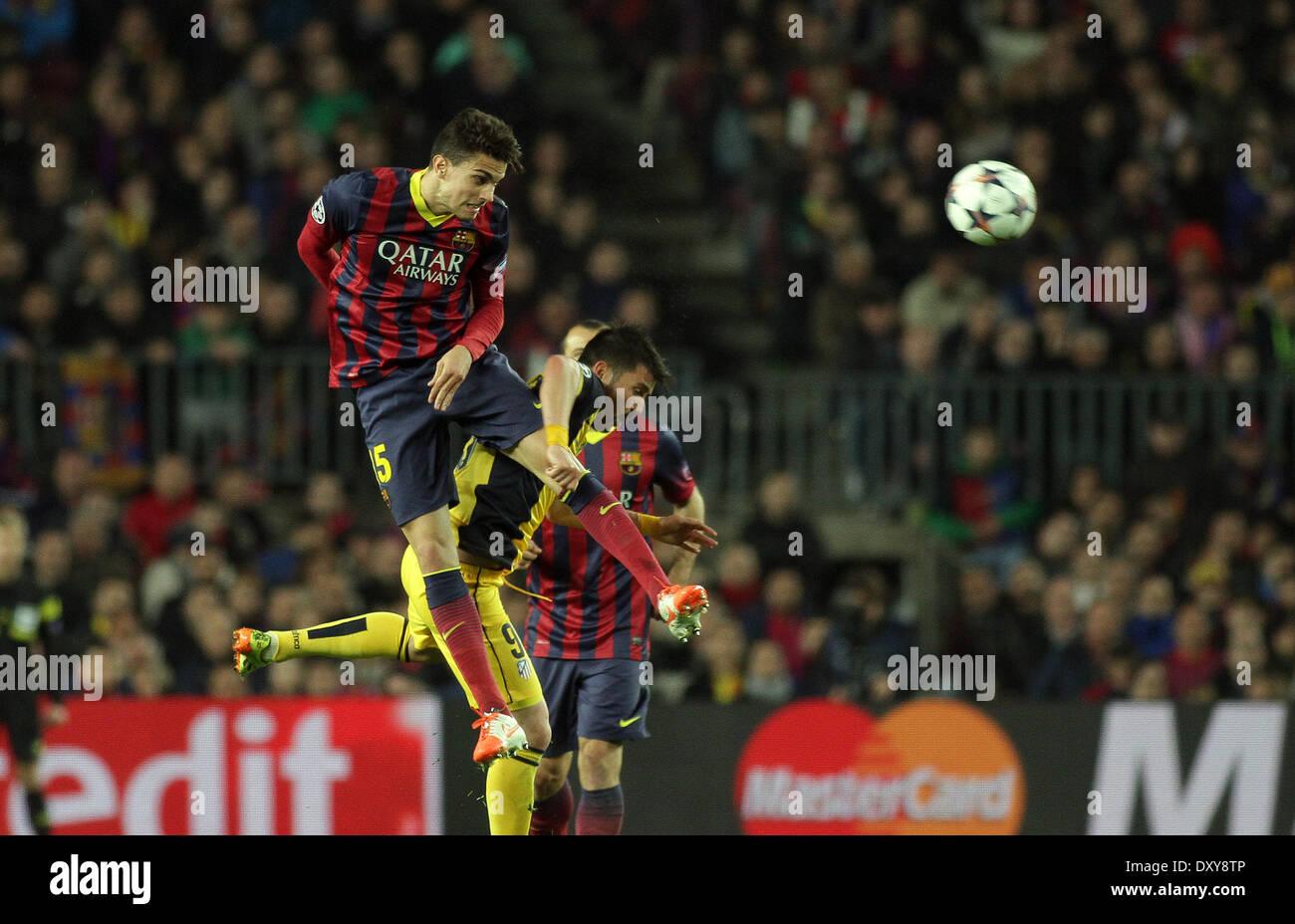 Barcelona, España. 01 abr, 2014. Bartra en acción durante la final ...