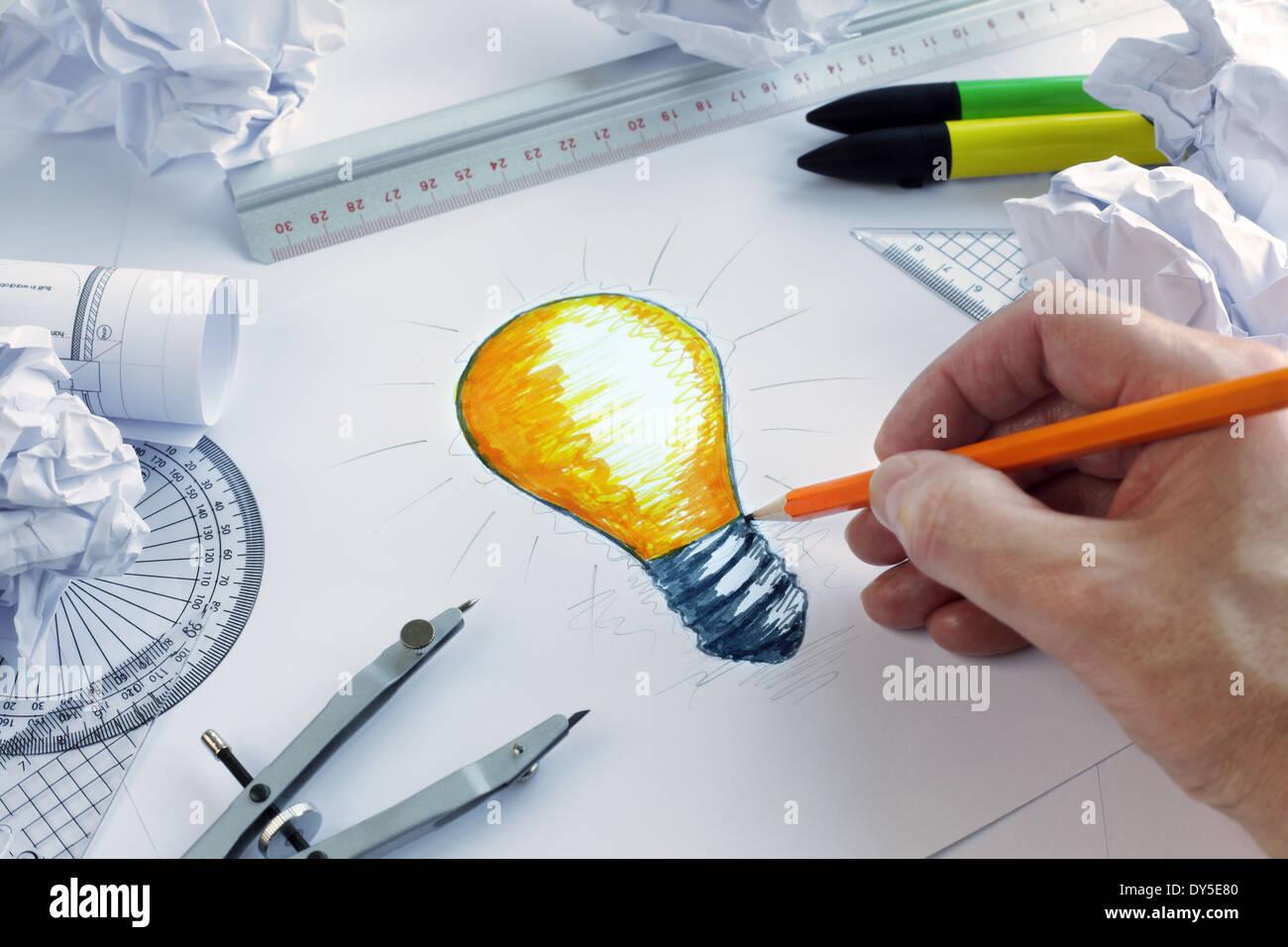 Tener una idea brillante Imagen De Stock