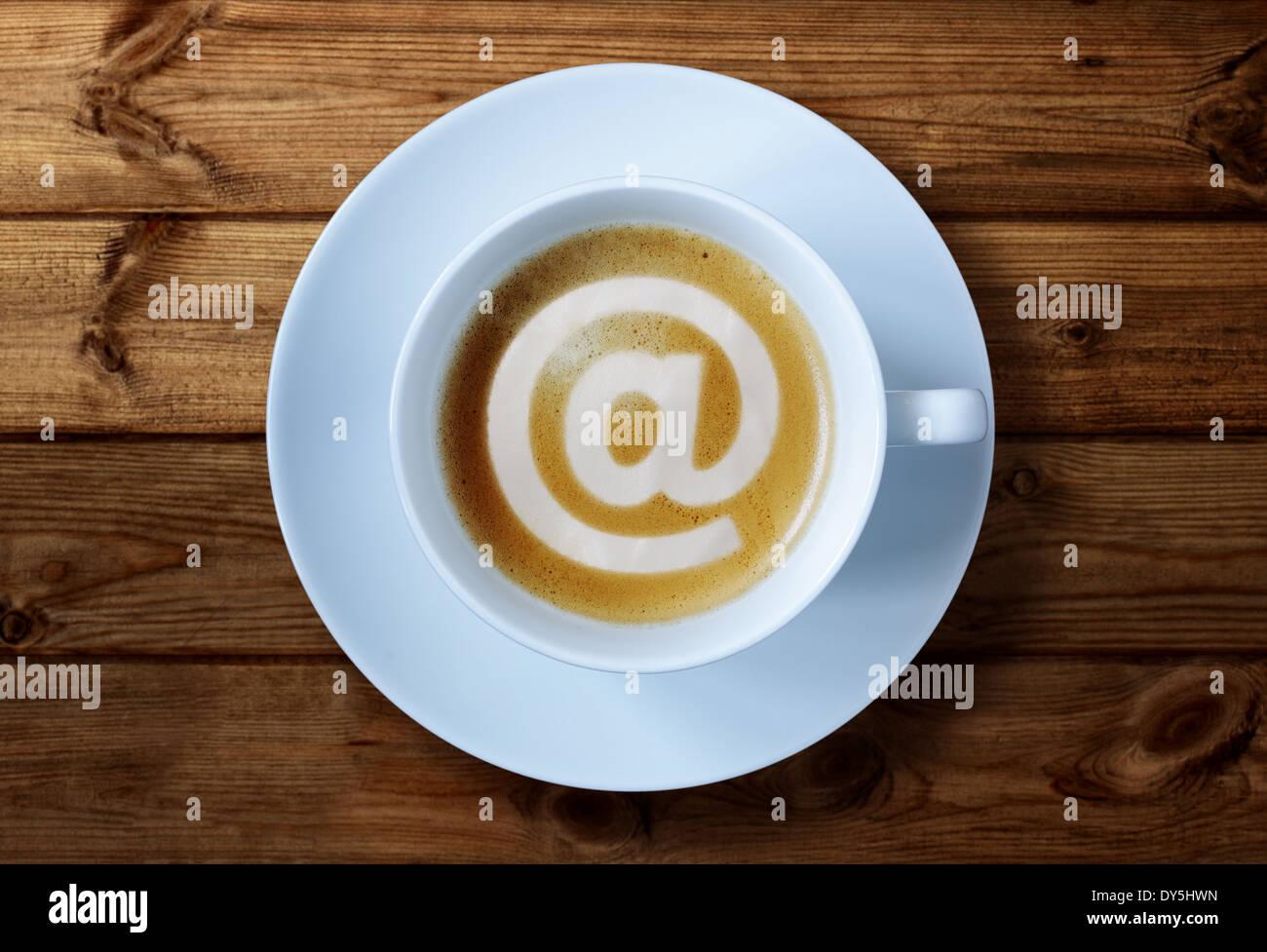 Café Internet Imagen De Stock