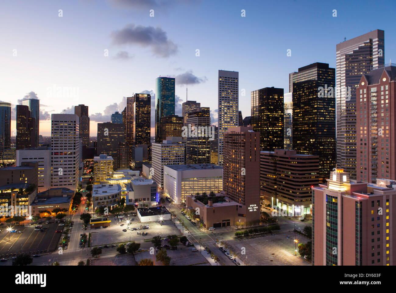 El centro de la ciudad de Houston, Texas, Estados Unidos de América, América del Norte Foto de stock