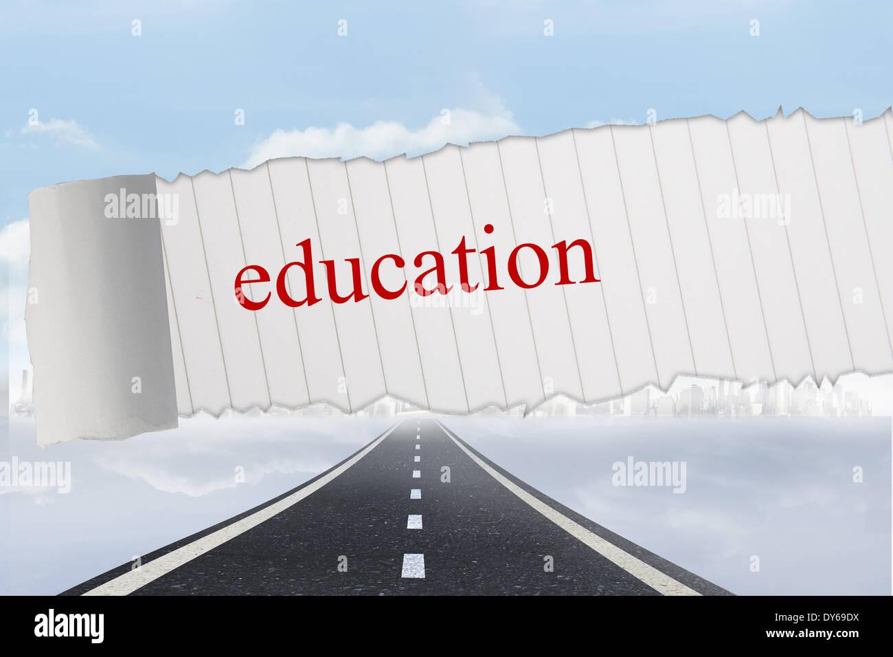La educación contra el fondo de carretera abierta Imagen De Stock