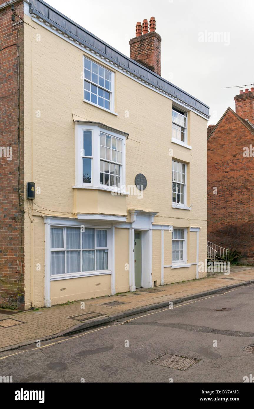Casa en Winchester Hampshire donde la novelista británica Jane Austen vivió y murió en 1817 Imagen De Stock