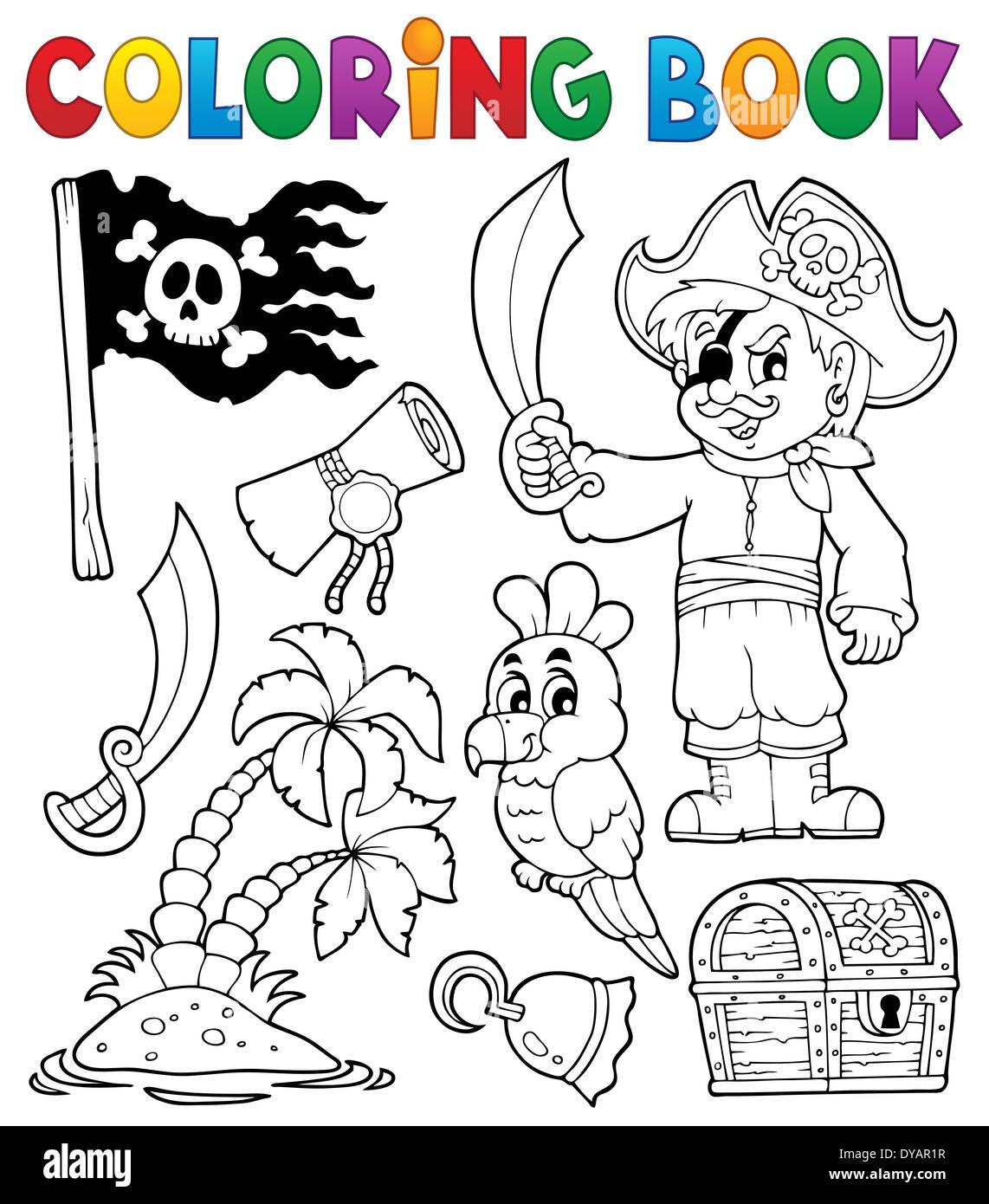 Libro para colorear temáticas pirata 1 - ilustración ilustración ...
