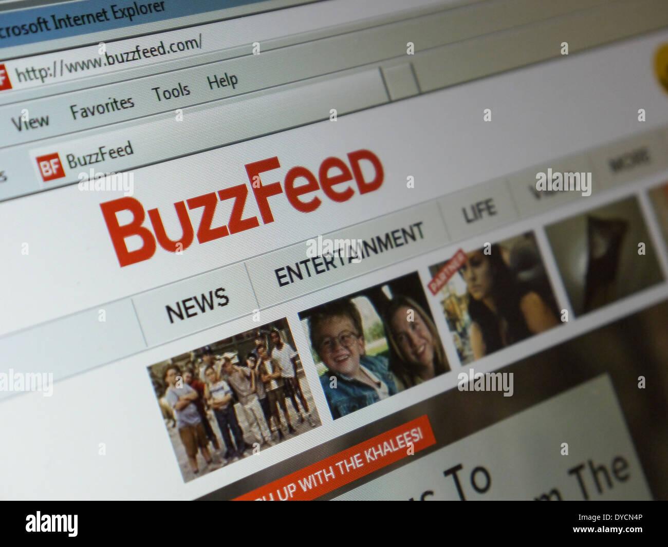 Buzzfeed contenido social sitios web de noticias Imagen De Stock