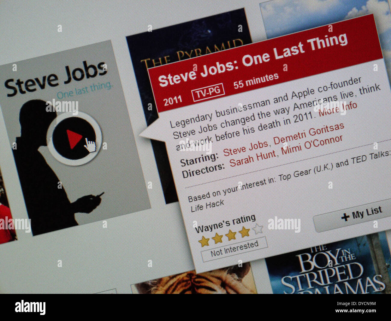 Steve Jobs netflix documental Imagen De Stock