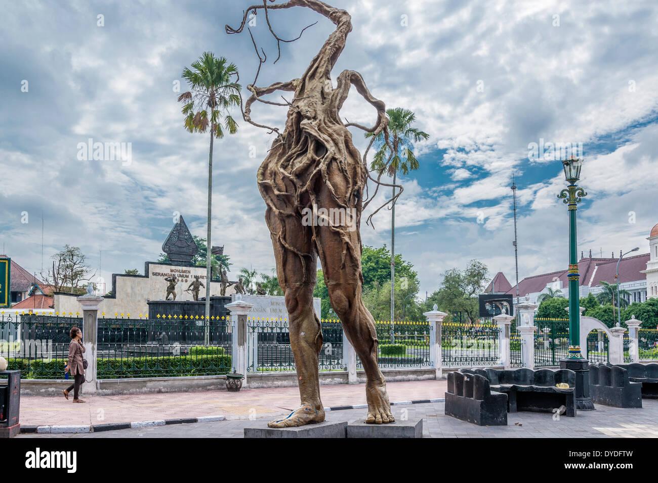 Escultura en Malioboro Street, en el centro de Yogyakarta. Imagen De Stock