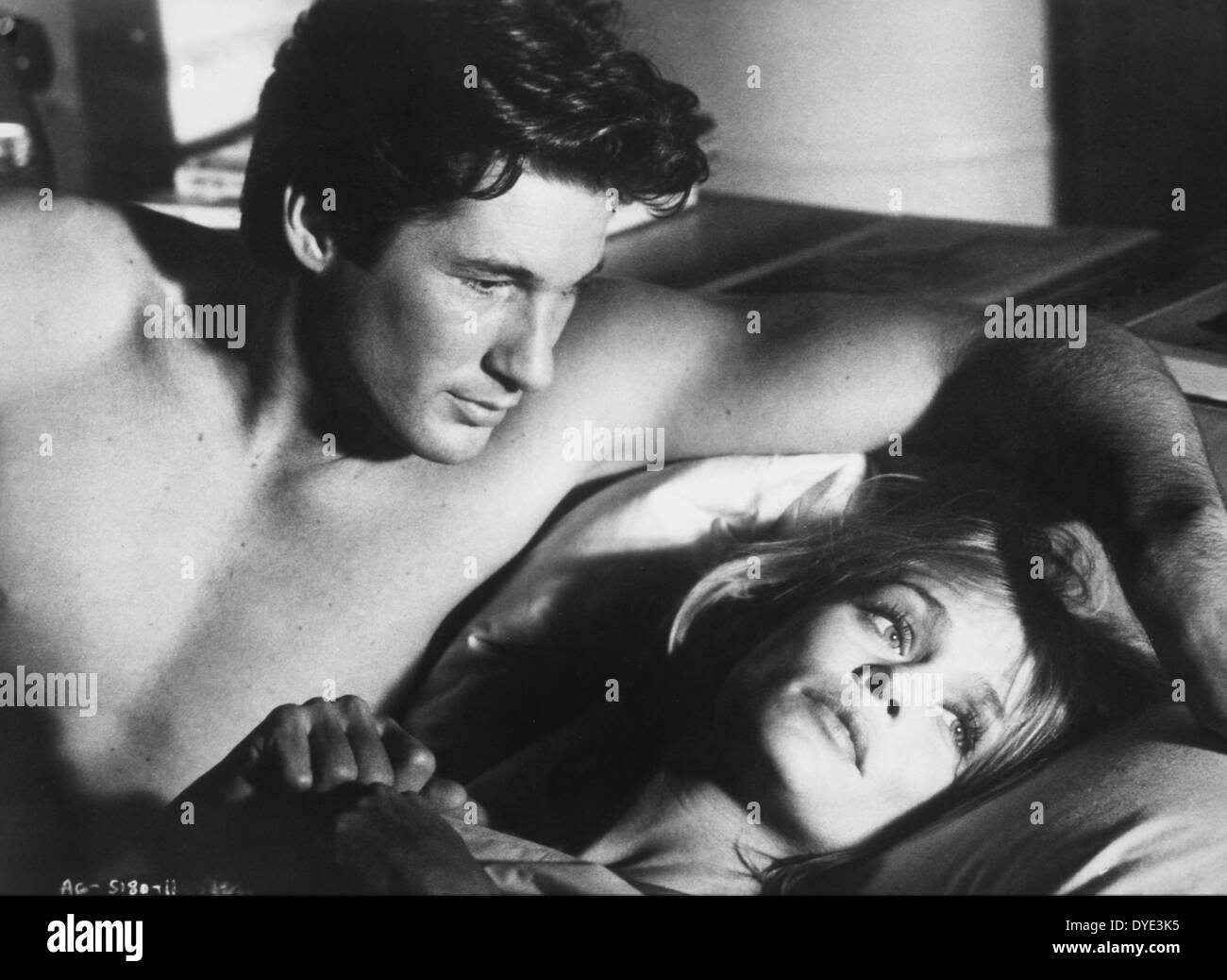 Richard Gere y Lauren Hutton, en el plató de la película, 'American Gigolo', 1980 Imagen De Stock