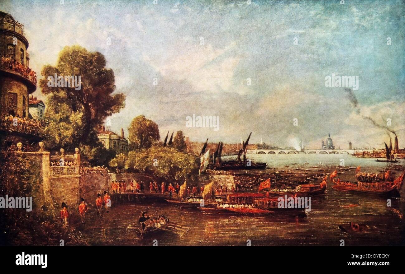 La apertura del puente de Waterloo Imagen De Stock