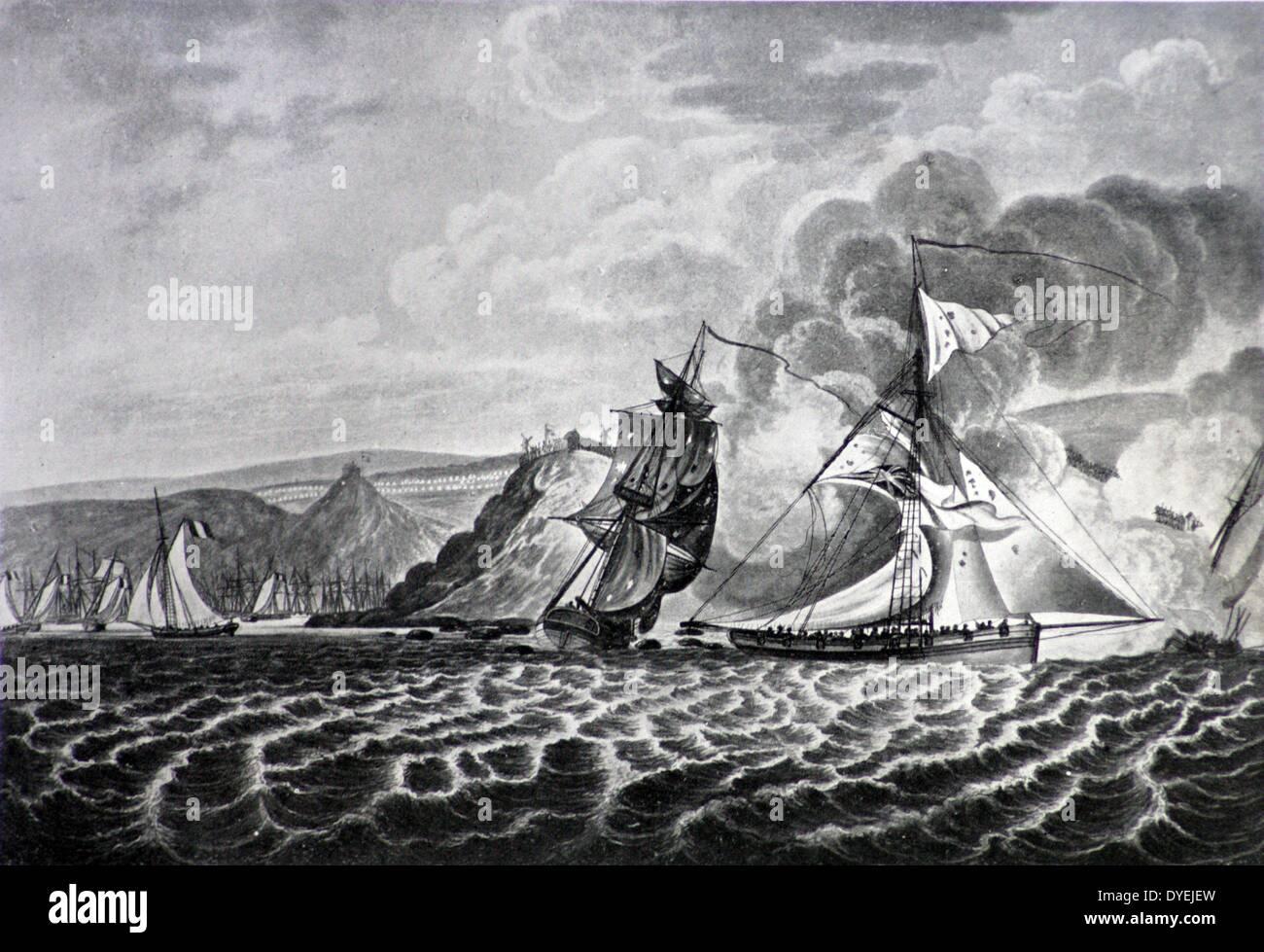 El Almirante Mitchell en Boulogne 1853. La nave sirvió en dos contratos para la Marina Real como un cortador armados contratados o goleta, uno al final de las guerras revolucionarias francesas y la segunda al comienzo de las guerras napoleónicas. Ha participado en varios importantes compromisos y pequeñas acciones. En 1806 el Almirantazgo comprado y se la llevó a su servicio como Sir Andrew Mitchell en 1807. Foto de stock