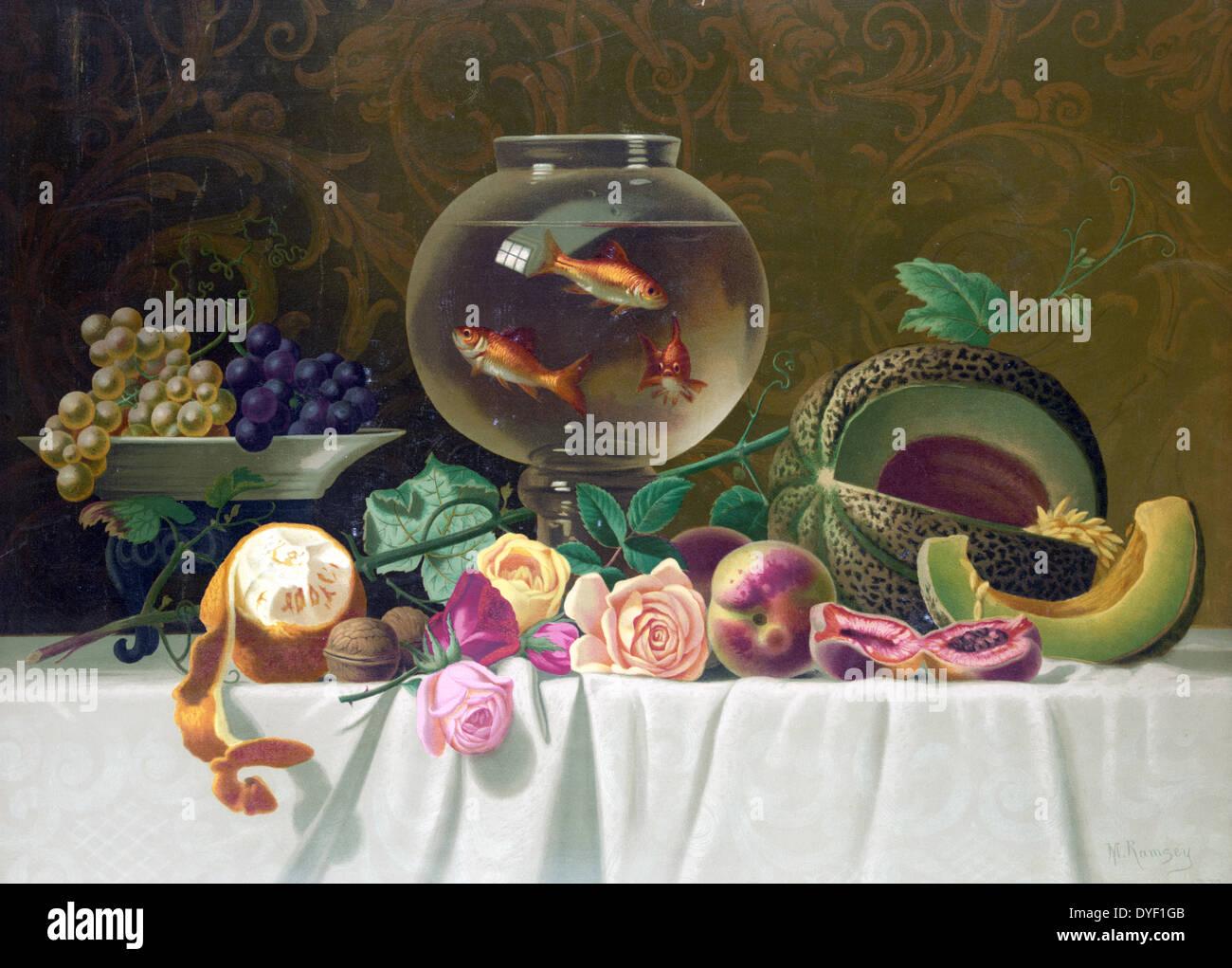 Bodegón con pescado, c1874. Imagen De Stock