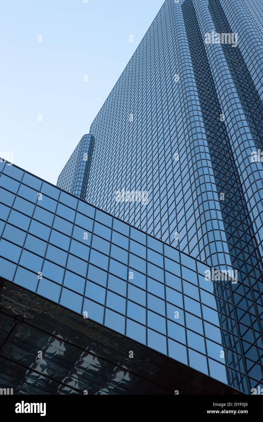 Exchange Place, un rascacielos en el distrito financiero de Boston, Massachusetts. Imagen De Stock