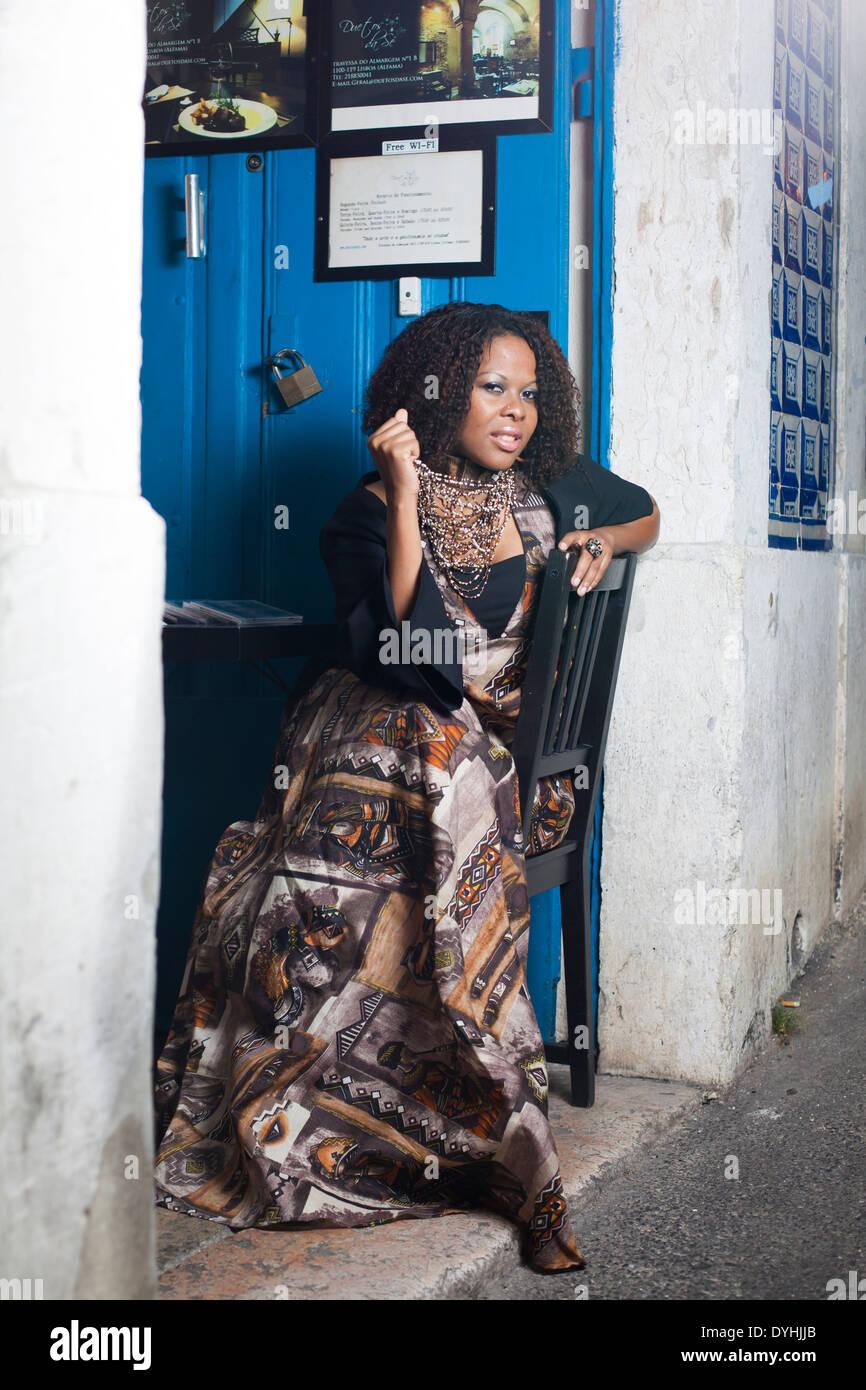Tania Tomé, cantante y empresaria de Mozambique. Imagen De Stock