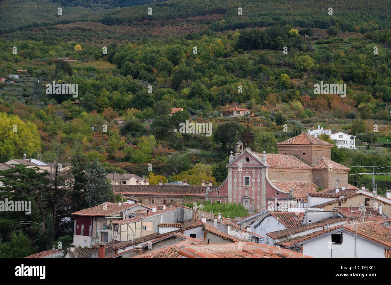 Iglesia de San Juan Bautista, Hervas, Cáceres, Extremadura, España, Europa Foto de stock