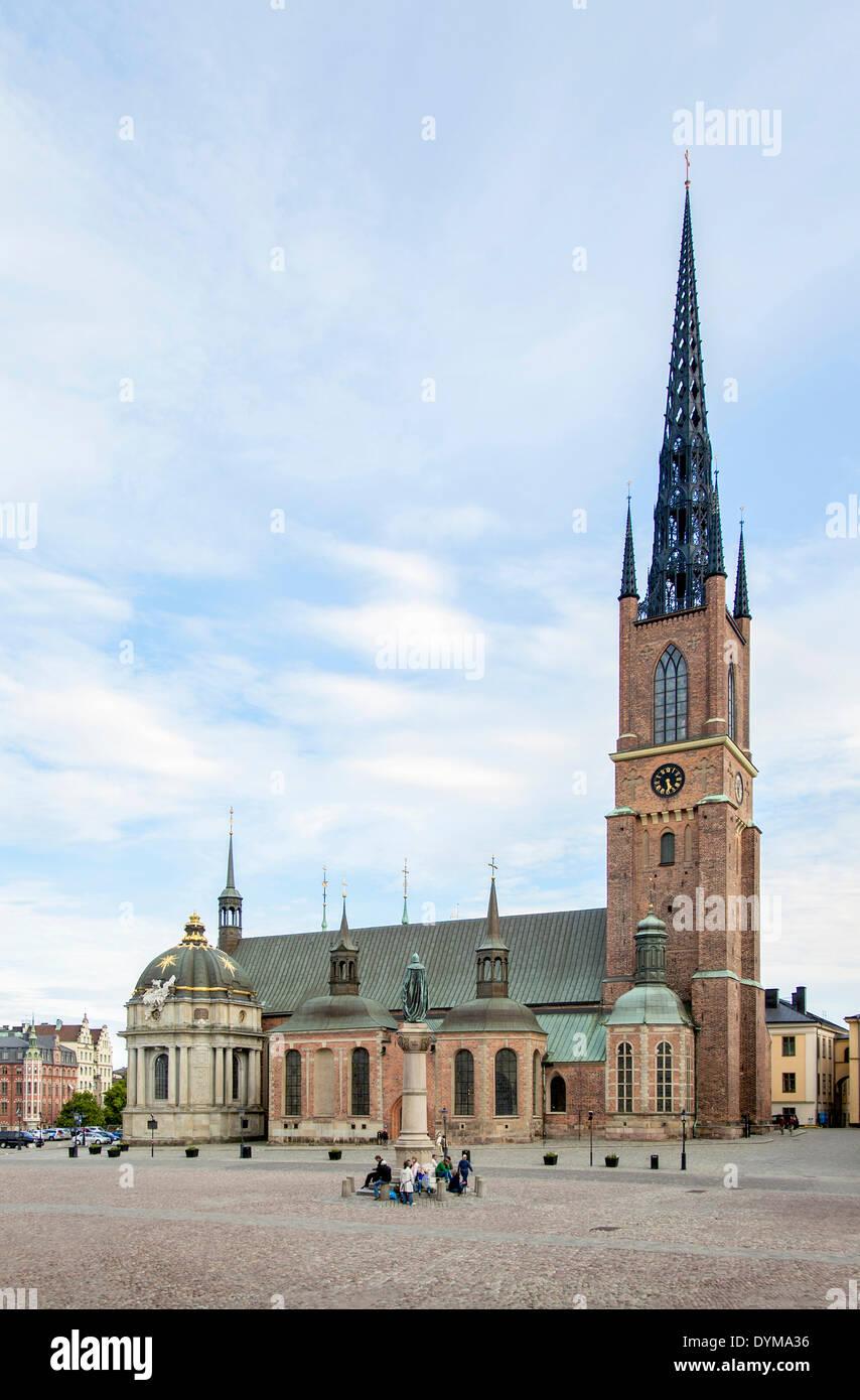 La Iglesia Riddarholm, Riddarholmskyrkan, Riddarholmen isla, Estocolmo, Suecia Foto de stock