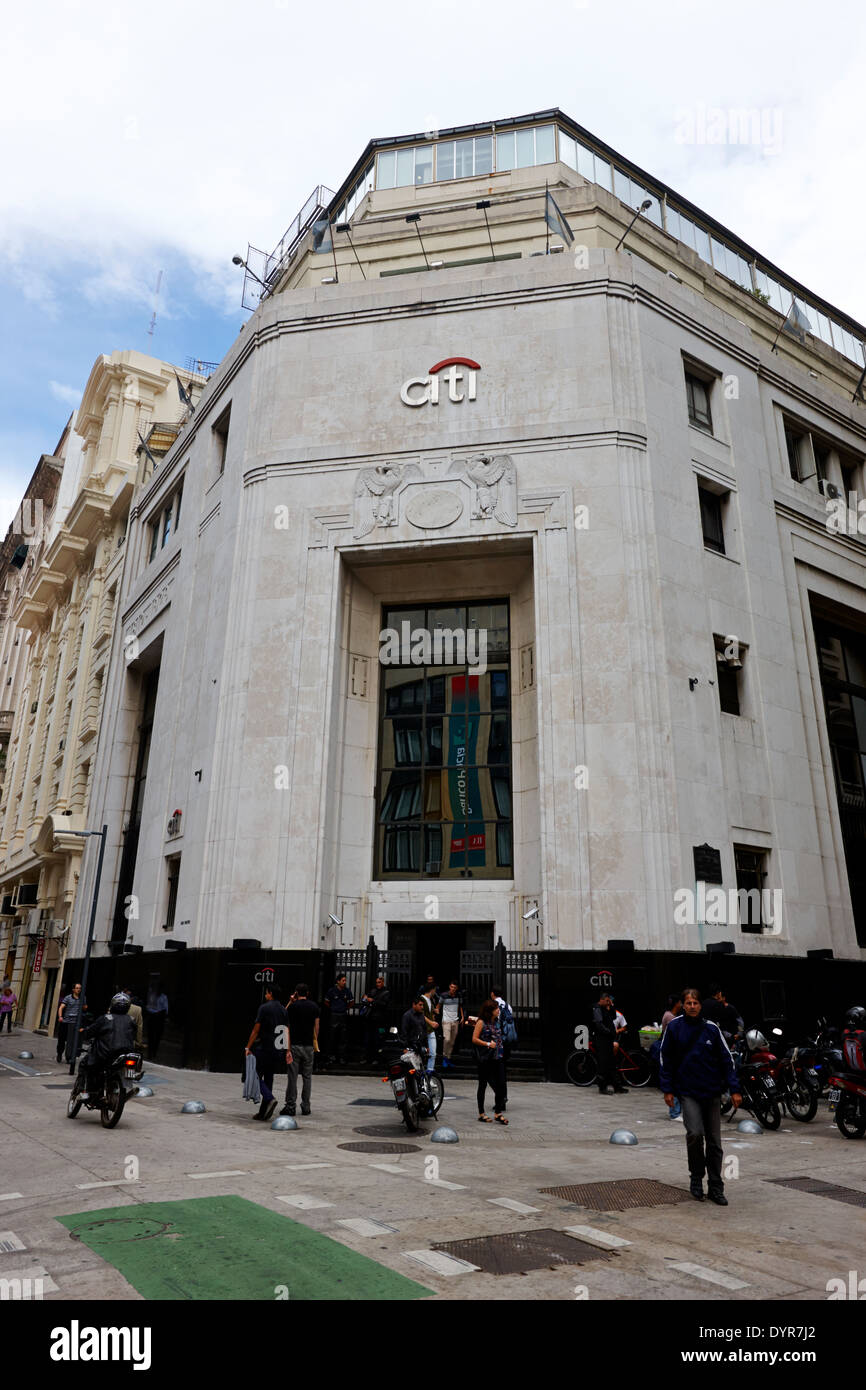 El First National Bank of Boston edificio ahora citibank Buenos Aires Argentina Foto de stock