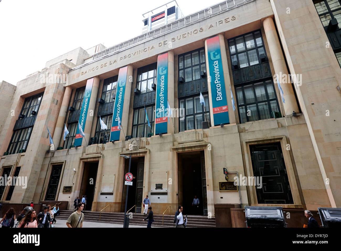 Banco de la provincia de Buenos Aires Argentina Imagen De Stock