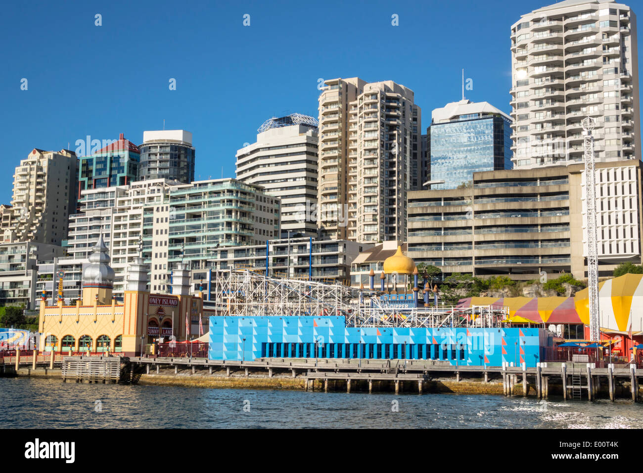 Australia Sydney NSW Nueva Gales del Sur, Sydney Harbour Puerto río Parramatta Kirribilli Milsons Point Luna Park Imagen De Stock
