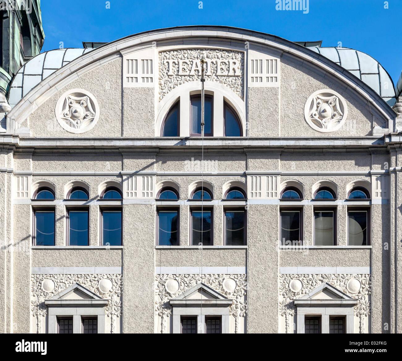 Oscar, teatro o Oscarsteatern, Art Nouveau, Estocolmo, Estocolmo, Suecia Condado Imagen De Stock