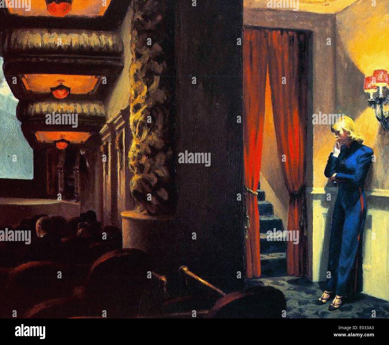 Edward Hopper película Nueva York Imagen De Stock
