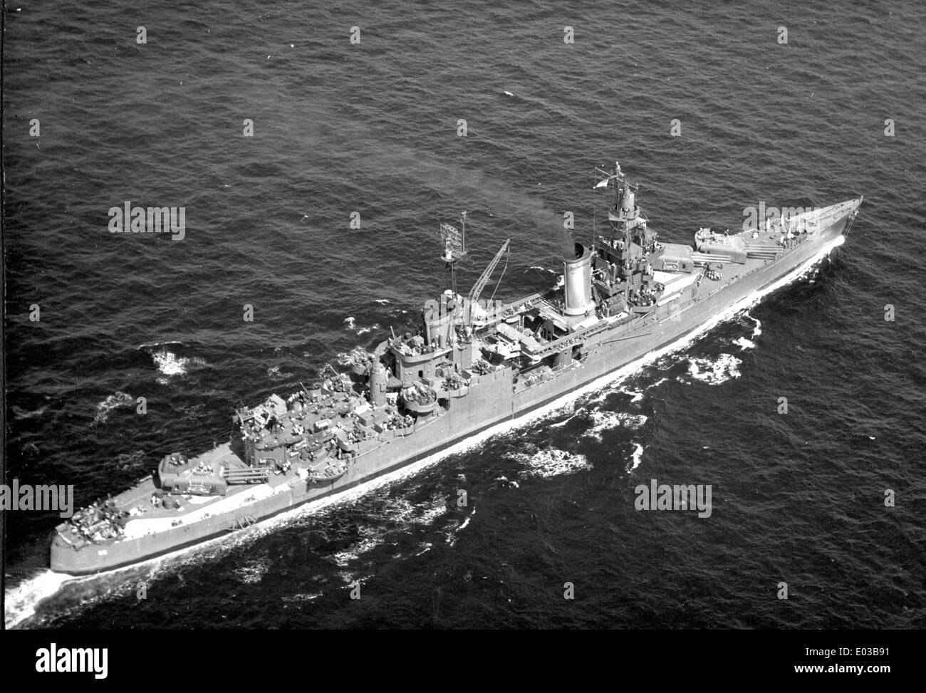 CA 35, USS Indianápolis, 1945 Foto de stock