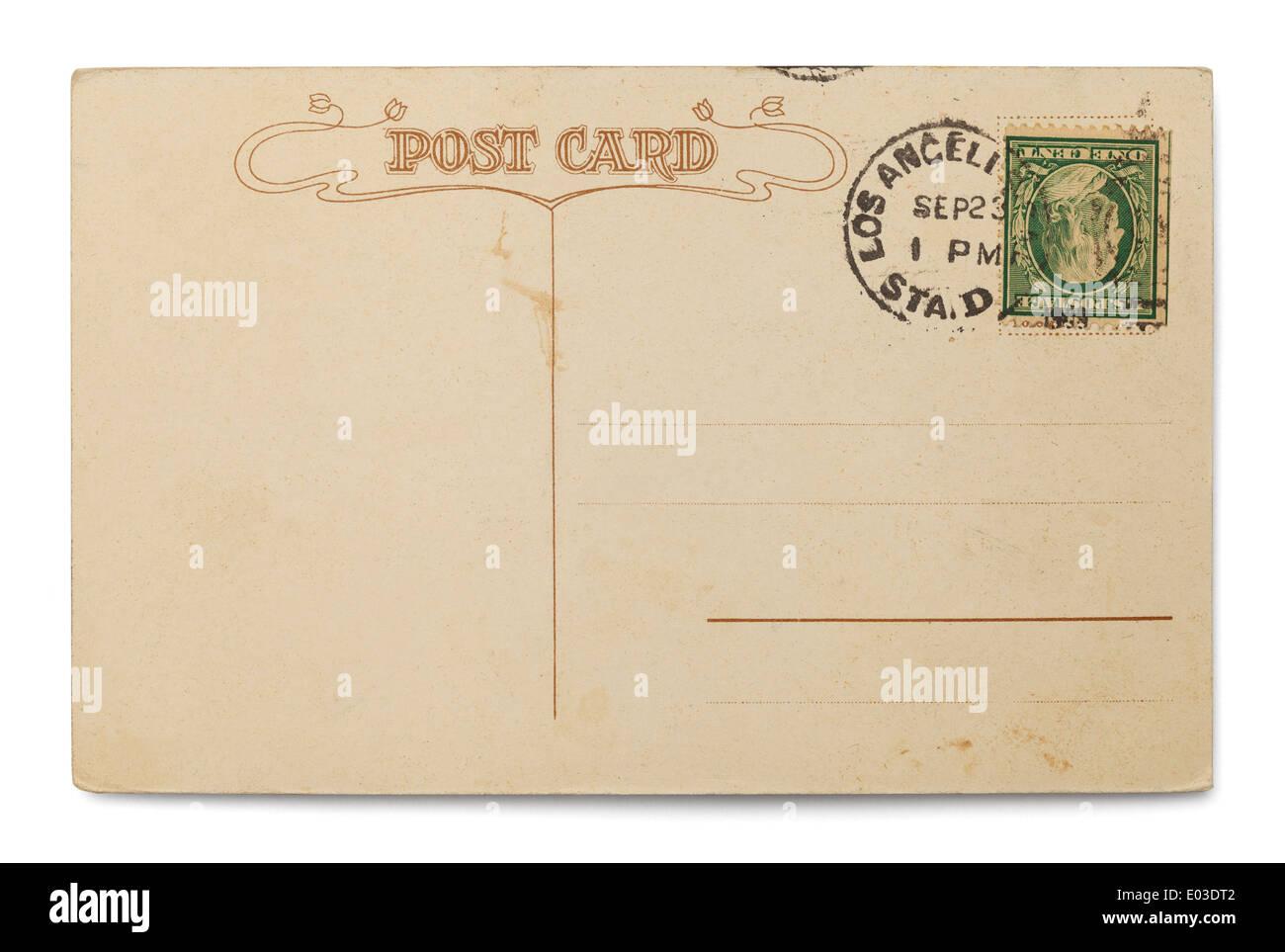 Estampado postal con copia espacio aislado sobre fondo blanco. Foto de stock