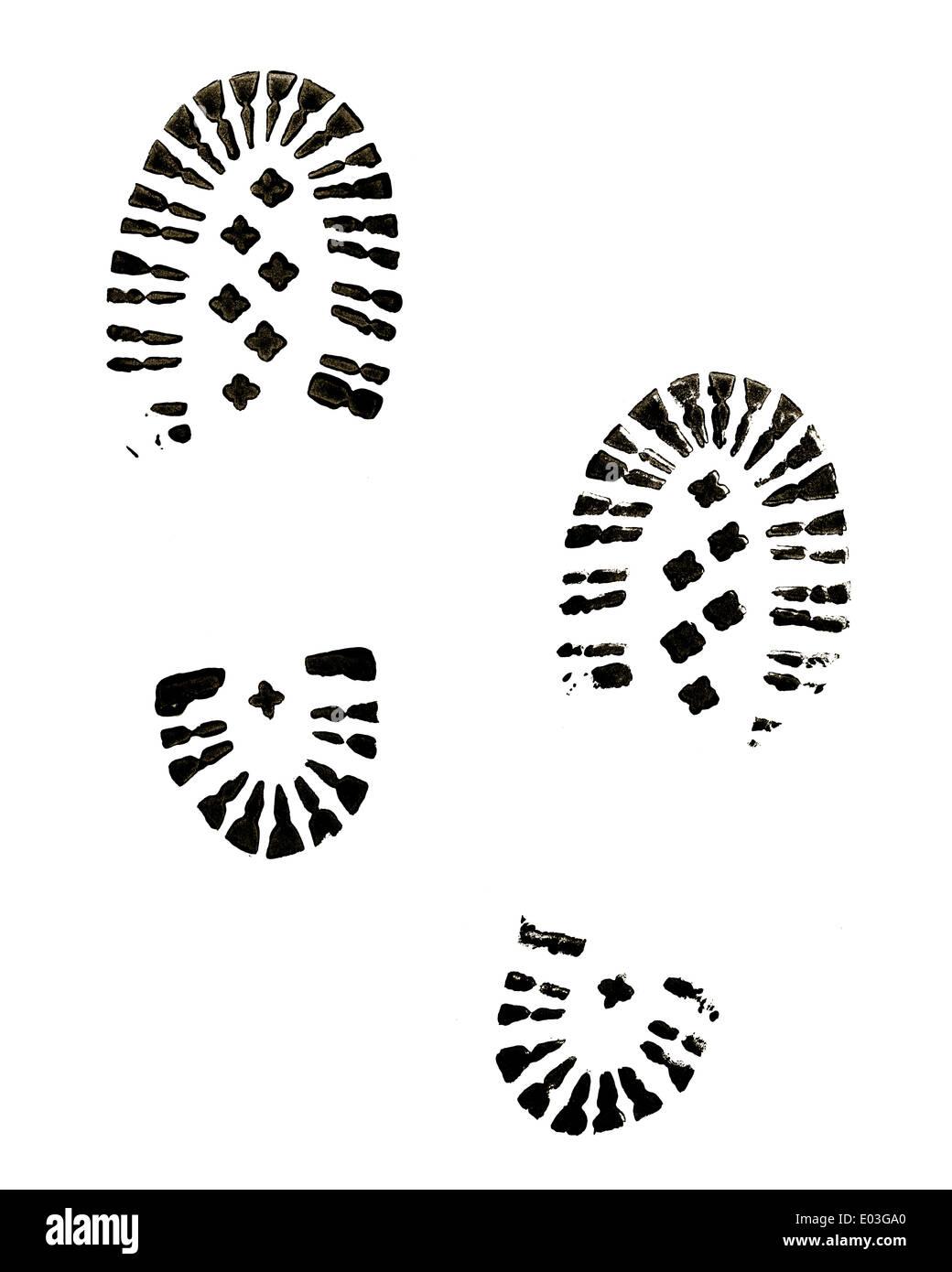 Funda negra imprime aislado sobre fondo blanco. Imagen De Stock