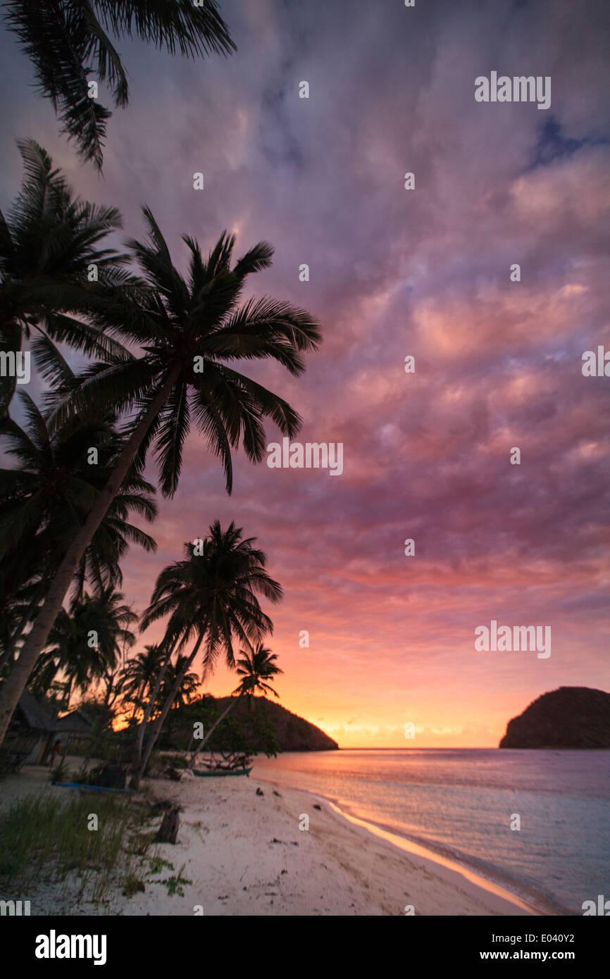 En Palawan, Filipinas, Isla Culion Foto de stock
