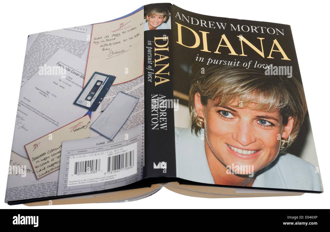Diana en la búsqueda del amor por Andrew Morton Imagen De Stock