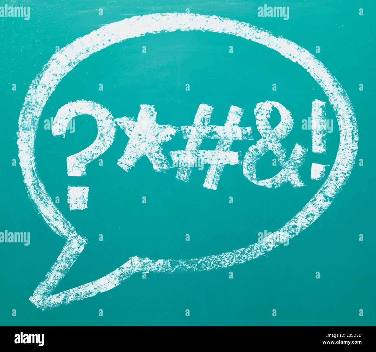 Palabra grosera de la confusión en la nube de palabras o comentario Bubble. Imagen De Stock