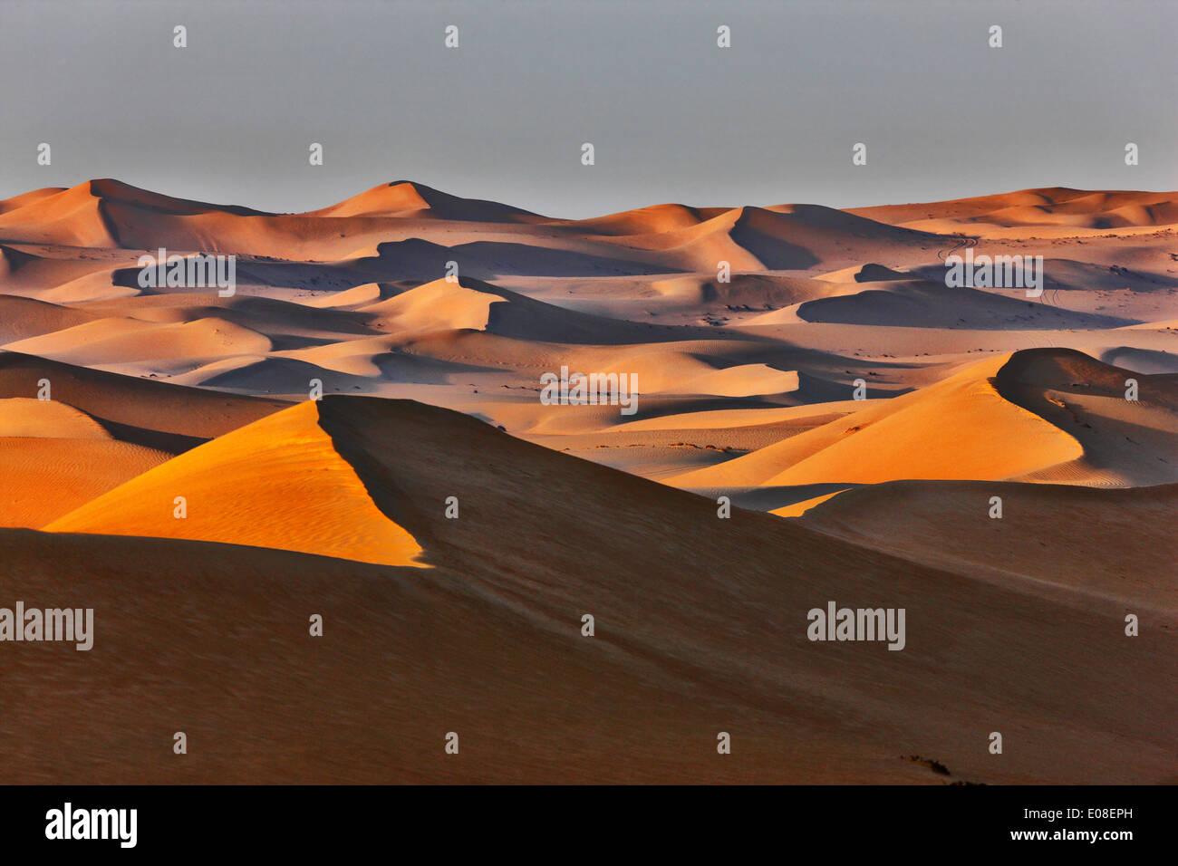 Paisaje de dunas de arena en el desierto de Arabia. Imagen De Stock