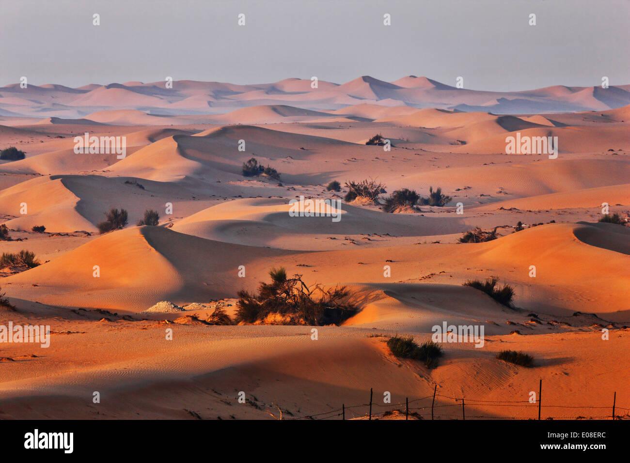 Paisaje de dunas de arena en el desierto de Arabia. Foto de stock