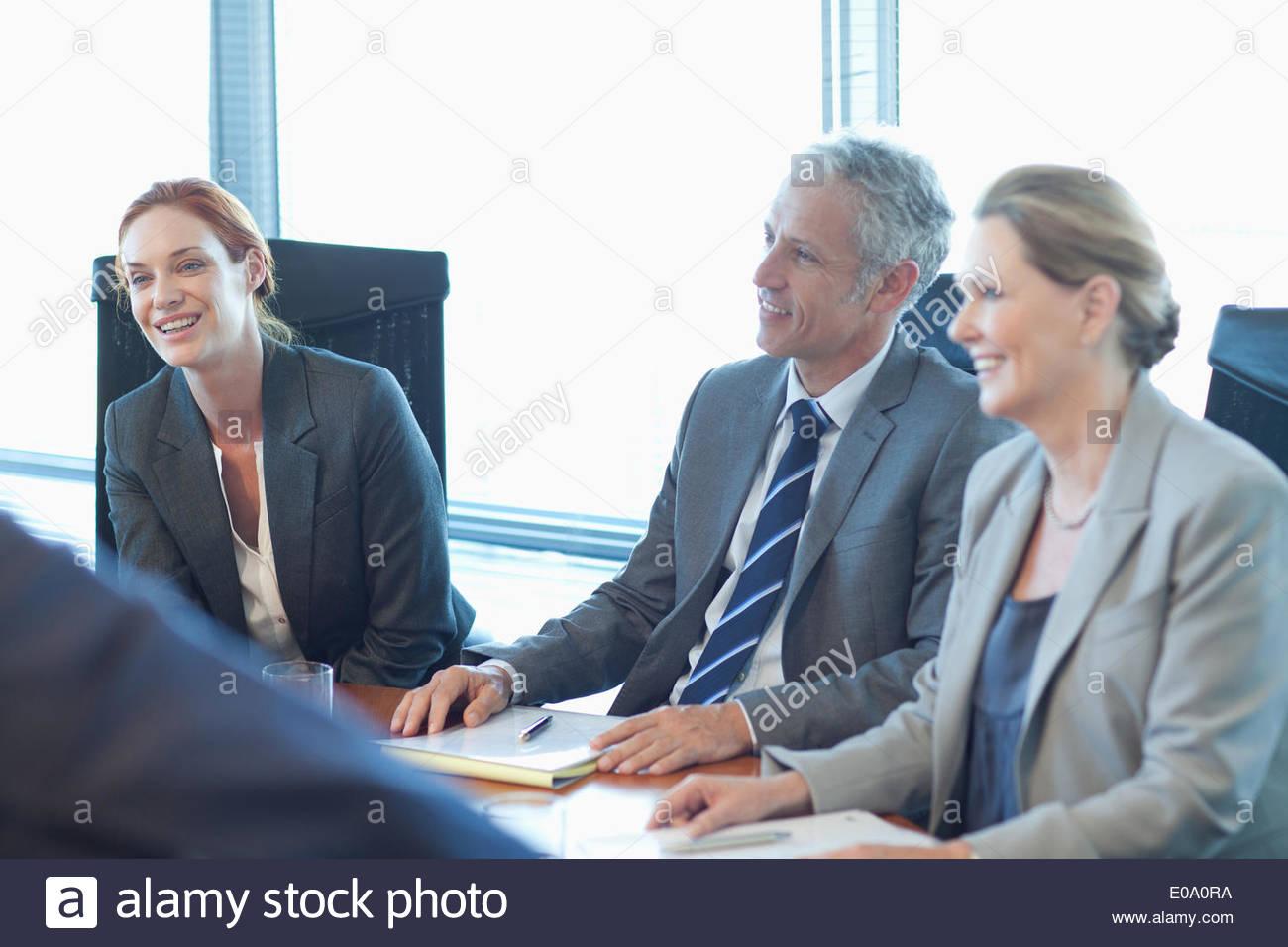 La gente de negocios en la reunión Imagen De Stock