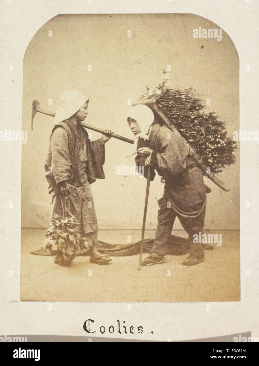 Los obreros japoneses Imagen De Stock