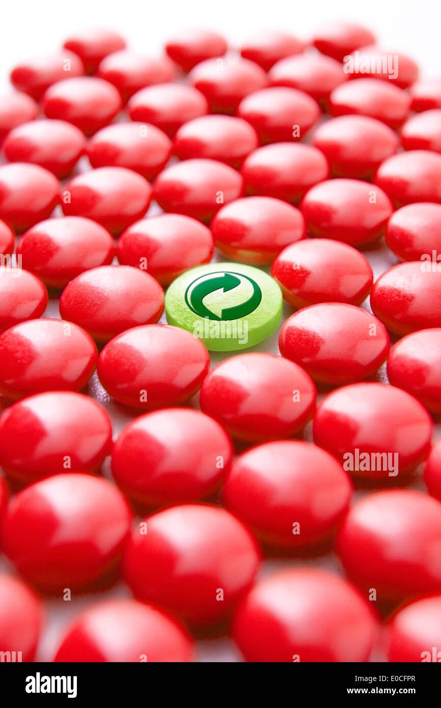 Reciclaje de medicamentos Imagen De Stock