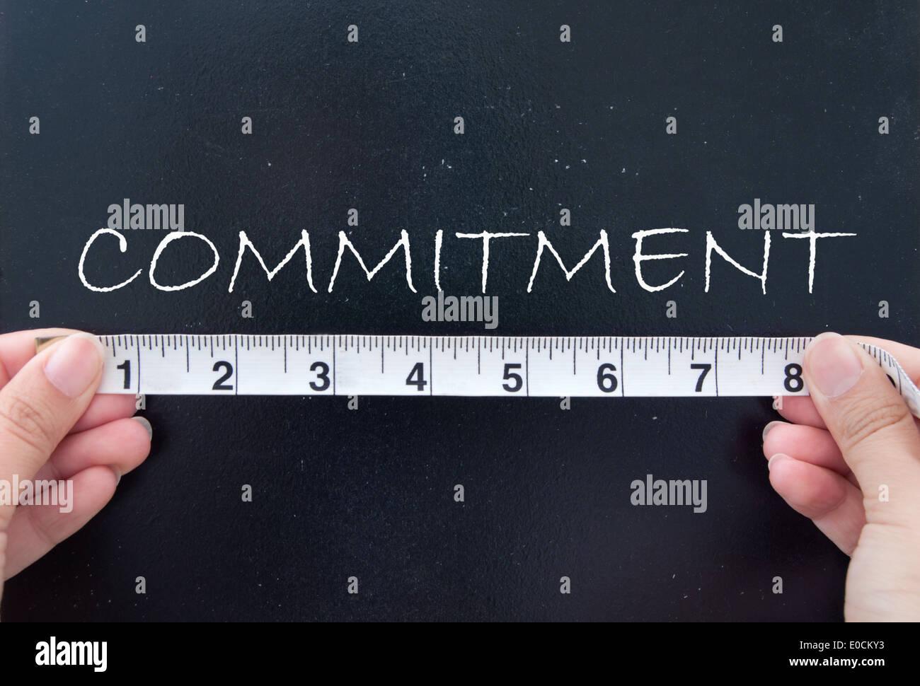 Compromiso de medición Imagen De Stock