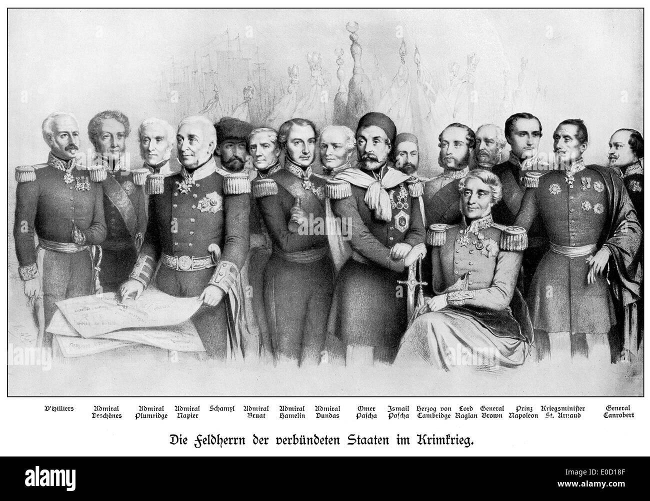 El comandante de los Estados Confederados durante la Guerra de Crimea Foto de stock
