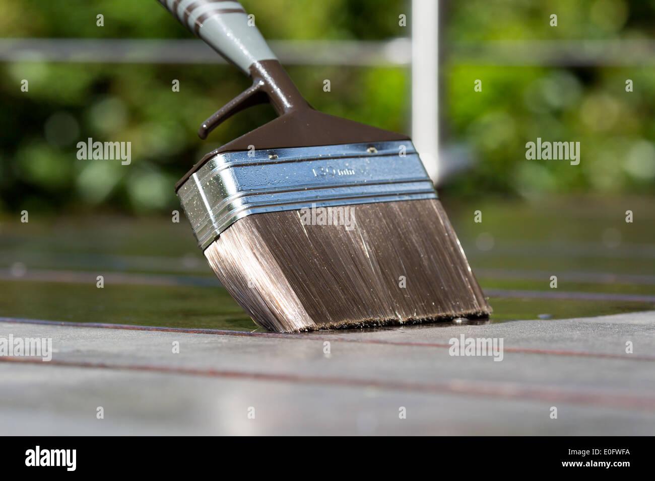 Pintar Con Pincel Terraza óleo Sobre Madera De Lujo Terraza