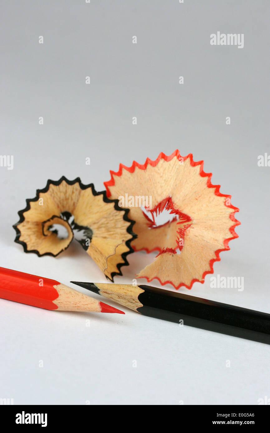 Lápices de colores y Anspitzspaene, lápices de colores, lápices de colores, cosas, lápiz de color, lápices de colores, objetos, objetos, M Imagen De Stock