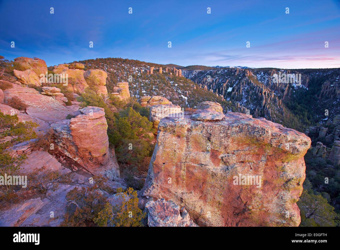 Bonita Canyon Drive, el Monumento Nacional Chiricahua Imagen De Stock
