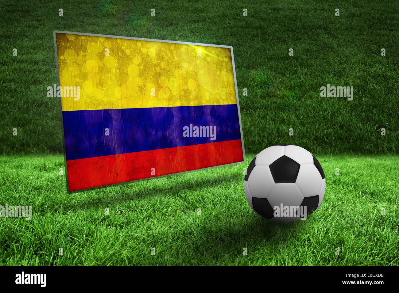 Colombia Flag Soccer Ball Football Imágenes De Stock   Colombia Flag ... ee658e8652d96
