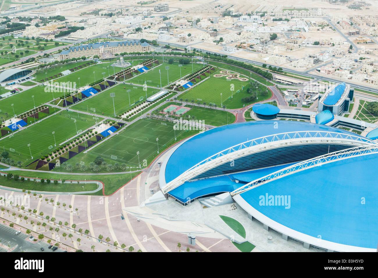 Qatar, Doha, Aspire Sports Center Imagen De Stock